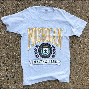 1991 Michigan Maize & Blue Tee